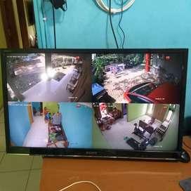 Promo cctv hikvision 2mp full hd +monitor 24 inc