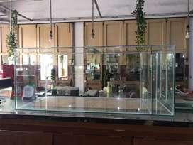 Siap meluncur aquarium 100x45x40 bio (3 sekat)