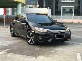 Km 8rb Honda Civic 1.5 Turbo ES Sedan Th 2018/2019 Black Like New!!