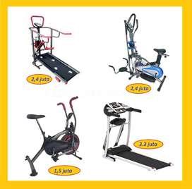 Jual Alat Fitness Treadmill Elektrik // Sepeda Statis // Orbitrek