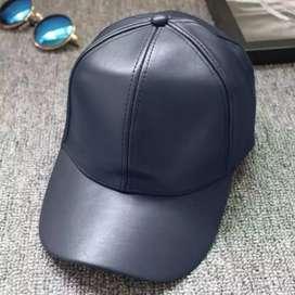 Topi pria wanita unisex - kulit pu