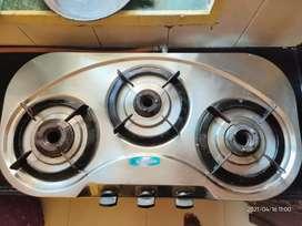 Khaitan 3 burner stainless steel