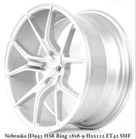 Velg Kece Mercy NEBRASKA JD943 HSR R18X8/9 H5X112 ET42 SMF