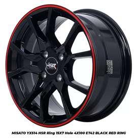 Velg Import MISATO YX514 HSR R15X7 H4x100 ET42 BK-RED