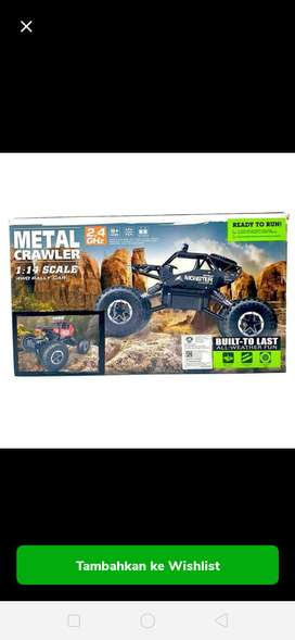 R/C Big crawler, full body metal, mainan bergaransi