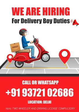 Job Vacancy for Food Delivery Boy Ghaziabad Salary For 25,000 / 35,000