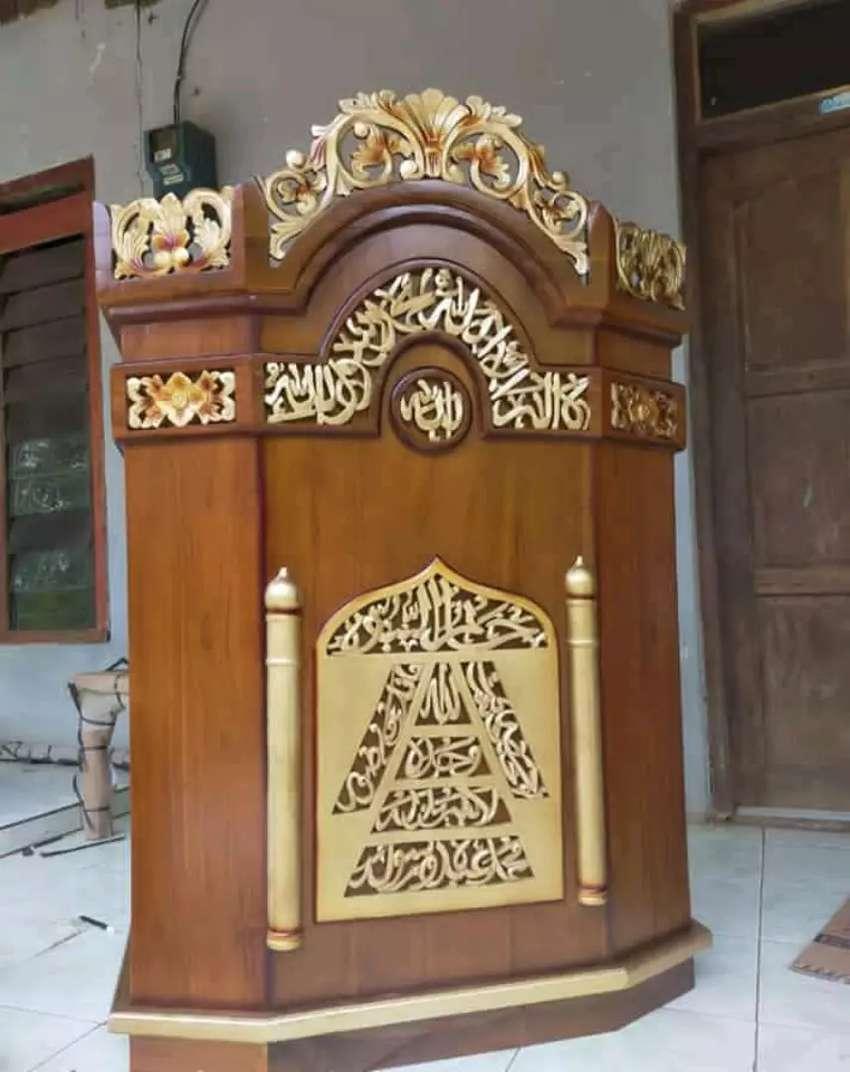 mimbar masjid podium jati 101 0