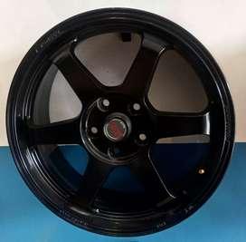 Velg Ring 17-7.5 h5-114.3 et38 Matt black bisa buat mobil HRV Civic