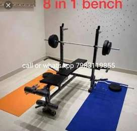 8in1 multi bench double support mei available