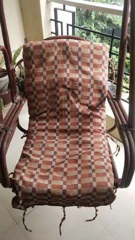 Swing Chair (Jhula) - Assam Cane with Cotton Cushion for Balcony