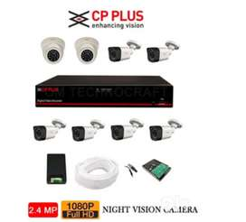 Brand New Cp plus cctv 2/4/8 channel complete set up