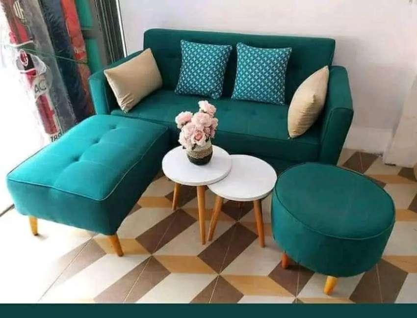Set sofa tamu retro