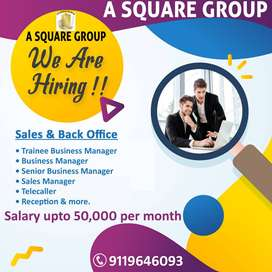Urgent Hiring for Sales & Back Office