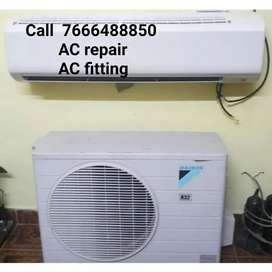 AC repair installation AC uninstallation AC service AC gas charging