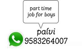 Part time job for boys good income apply soon
