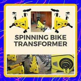 Alat fitnes sidoarjo spining bike BEST trasformer JM5