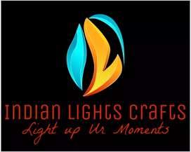 Hand made lamp shades and aroma diffuser