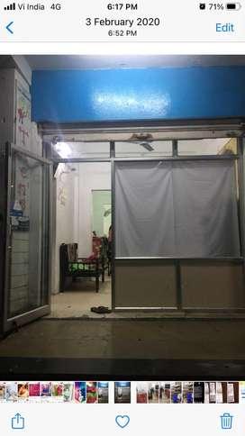 Aluminium and glass partition