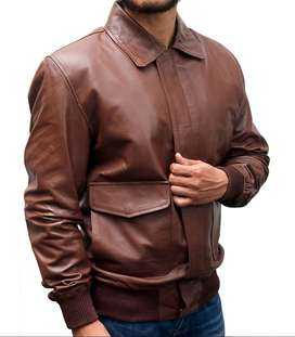 2020 Levis Mens Vintage Clothing Strauss Italian Leather Jacket Brown