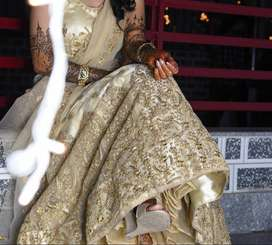 Party Lehnga with ethic fabric