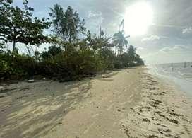 Dijual tanah pantai strategis, dari tepi jalan sampai pantai