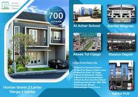 Rumah Syariah Cluster 2 Lantai, Murah dan Strategis Daerah Depok