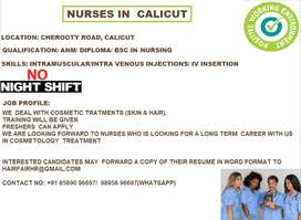 NURSES FOR COSMETIC CLINIC