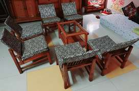 Antique Wooden Table Chair Set.