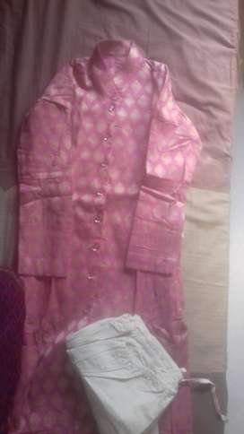 Pink Kurta Set for 11+ years - 500 rs