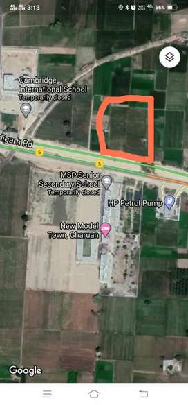 AGRICULTURE LAND WITH MOTOR CHANDIGARH TO LUDHIANA HIGHWAY
