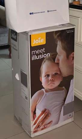 Joie illusion travel cot nickle