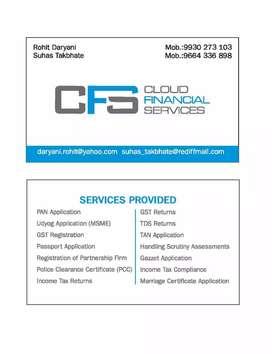 CLOUD FINANCIAL SERVICES