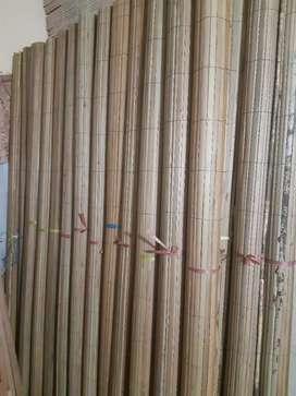 Tirai bambu, tirai rotan enau, tirai kayu motif pola