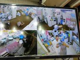 Four cams cctv hikvision system