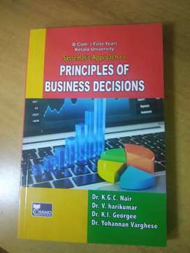 Principal of business decisions