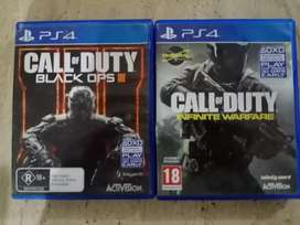 Call of duty black ops 3 and call of duty infinte warfare for PS4