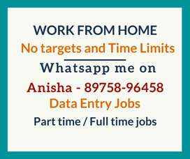 Work from home. Simple typing job. Earn daily Rs.1000/-