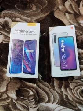 Box pack new redmi note 8 or realme 5 pro seal box new