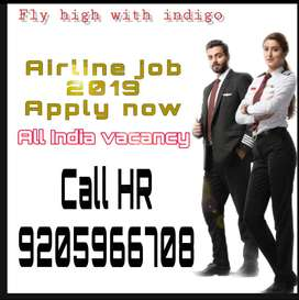 Indigo Airlines Hiring for staff on roll vacancy for full time job fur