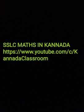 SSLC maths classes in Kannada