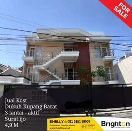 Jual kost lux yg full penghuni di Dukuh Kupang Barat - Surabaya