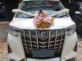 Sewa rental mobil pengantin alphard transformer putih paling murah