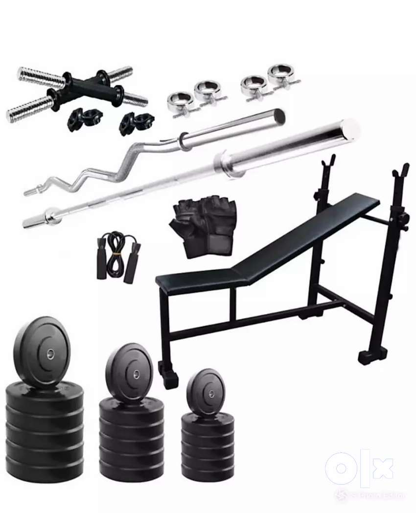 Selling Whole gym set, including a multipurpose bench 0