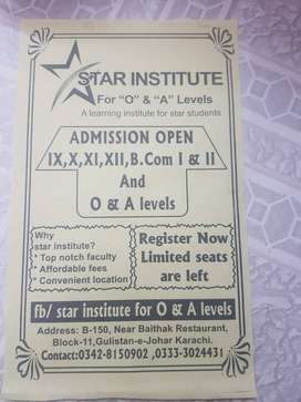 STAR INSTITUTE in Gulistan e-Johar