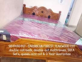 Biggest Offer CARIBBEAN Forest Teakwood COT 3 Year Guarantee Available