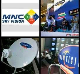 Paket hiburan Tv parabola Indovision Mnc Vision