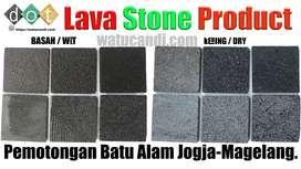 Teksture batu alam hitam lava batu candi