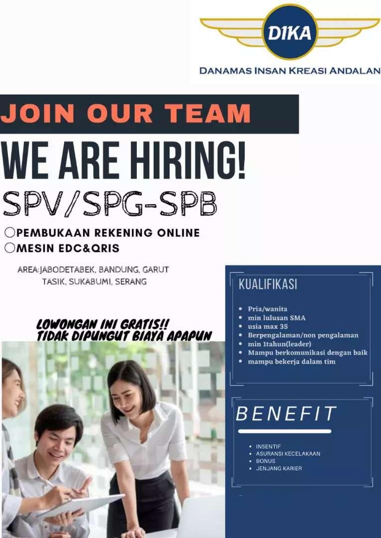 LOKER SUPERVISOR ( SPV ) SPG & SPB BANK SWASTA