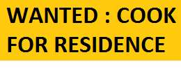 COOK FOR RESIDENCE AT CHANDIGARH