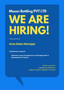 AREA SALES MANAGER REQUIRED